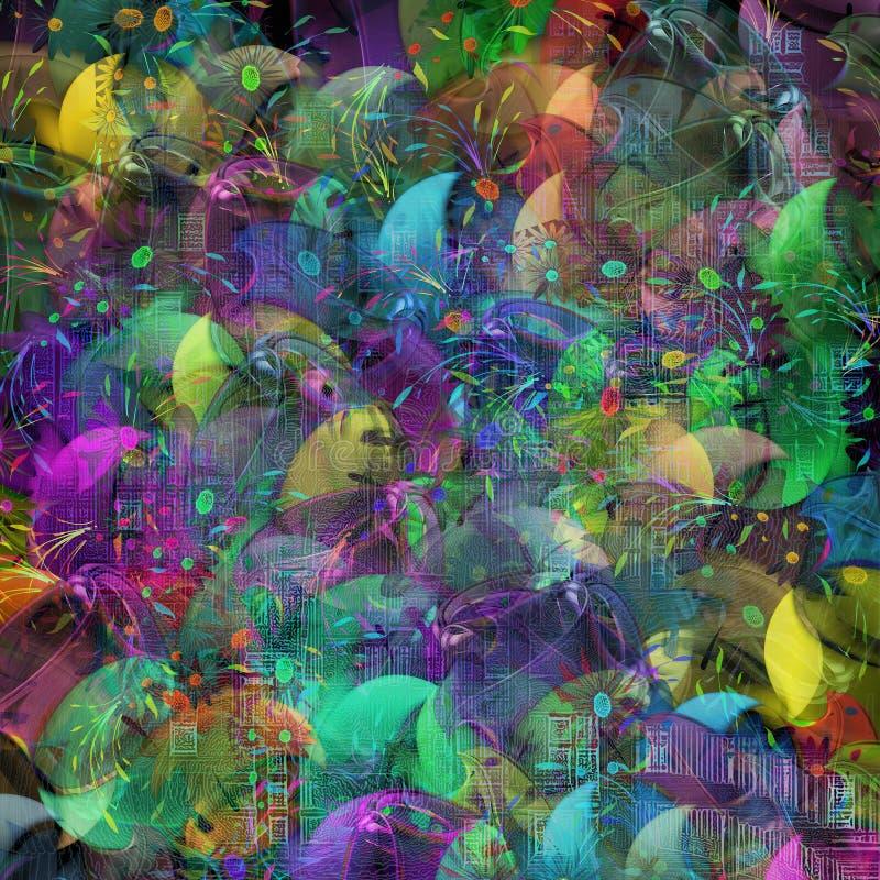 Tresse multicolore illustration de vecteur