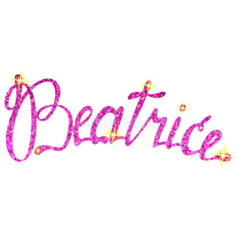 Tresses de lettrage de nom de Béatrice illustration stock