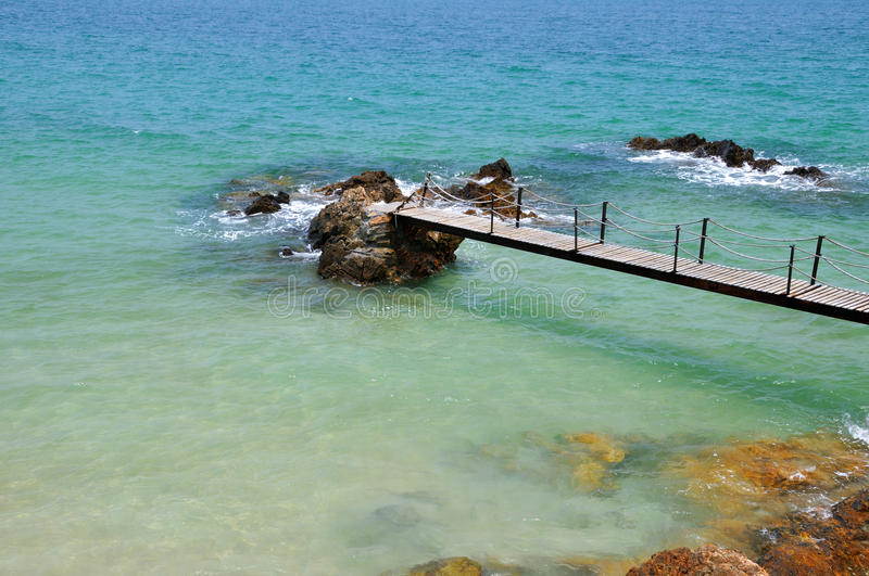 Download Trestle On Beach Stock Image - Image: 14619121