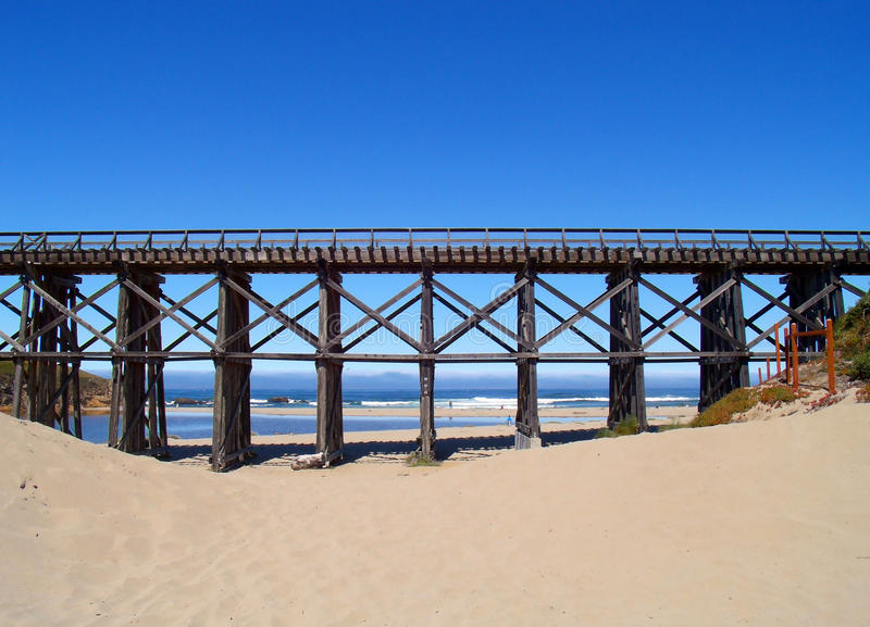Trestle bridge royalty free stock image