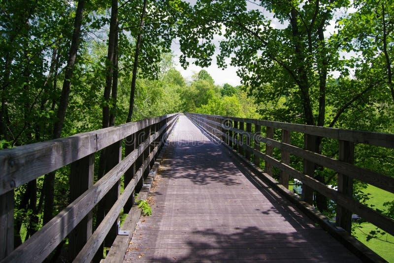 Trestle Bridge on the Virginia Creeper Trail royalty free stock photo