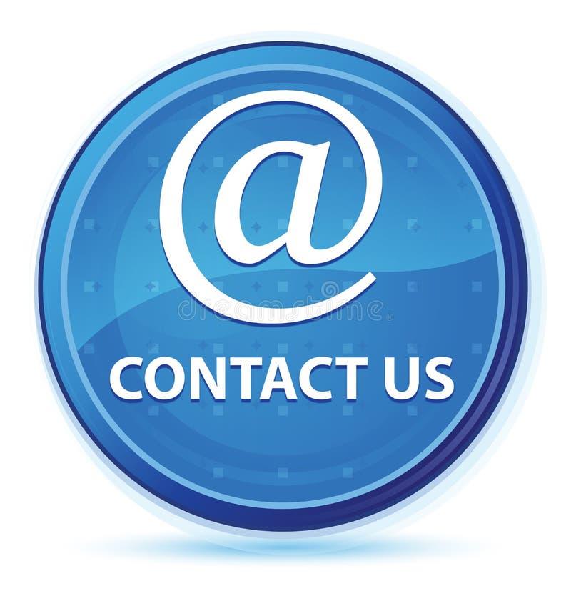 Treten Sie mit uns (E-Mail-Adresse Ikone) blauer runder Mitternachtshauptknopf in Verbindung lizenzfreie abbildung