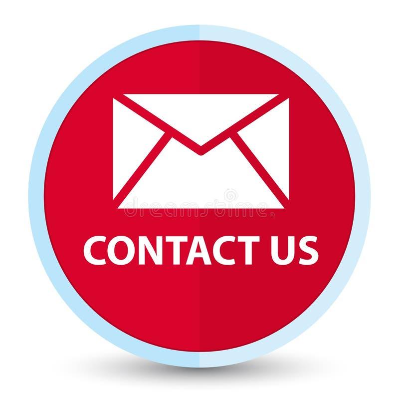 Treten Sie mit uns (E-Mail-Ikone) flacher roter runder Hauptknopf in Verbindung lizenzfreie abbildung