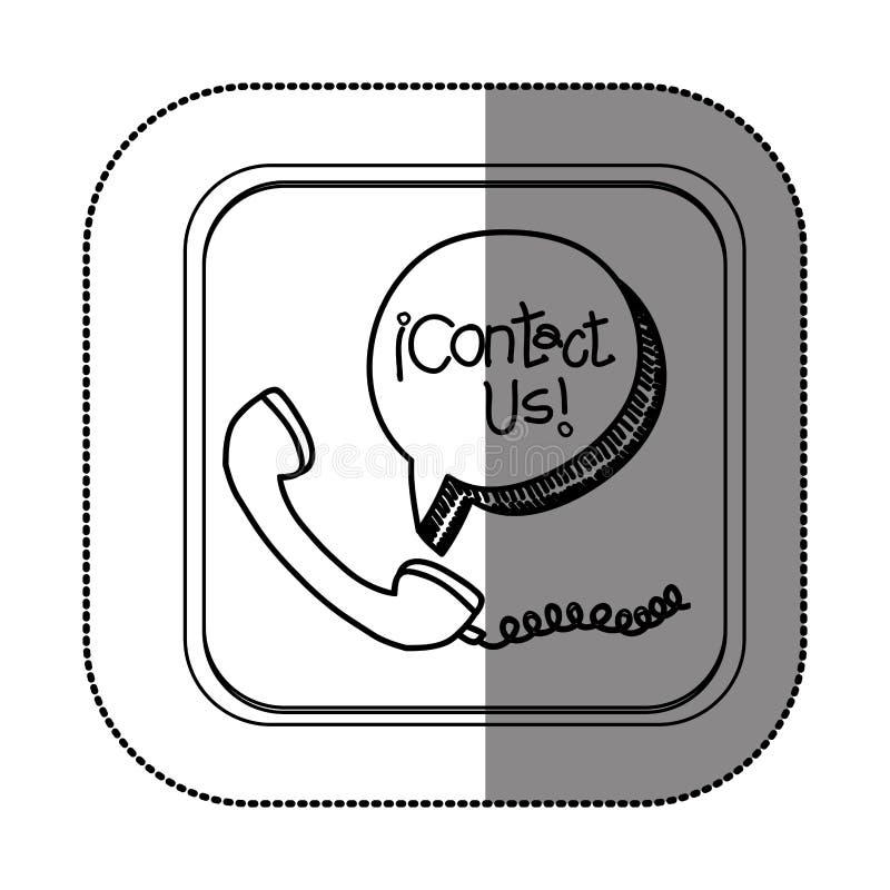 Treten Sie mit uns Kundendienst in Verbindung vektor abbildung