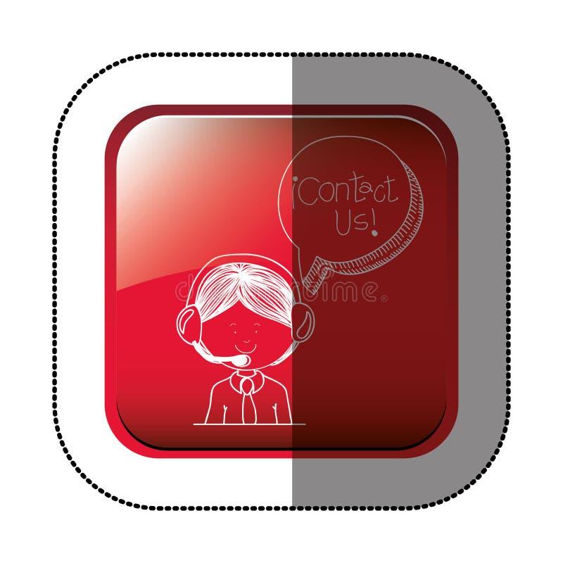 Treten Sie mit uns Kundendienst in Verbindung lizenzfreie abbildung