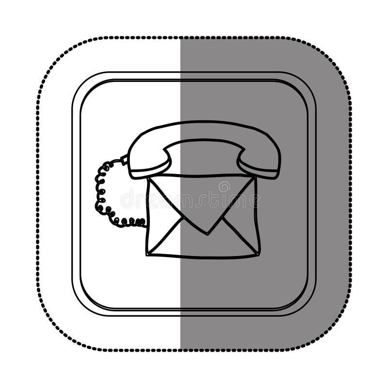 Treten Sie mit uns Kundendienst in Verbindung stock abbildung