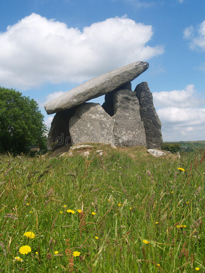 Trethevy Quoit. Neolithic dolmen burial chamber located near St Cleer and Darite in Cornwall, England UK Europe royalty free stock image
