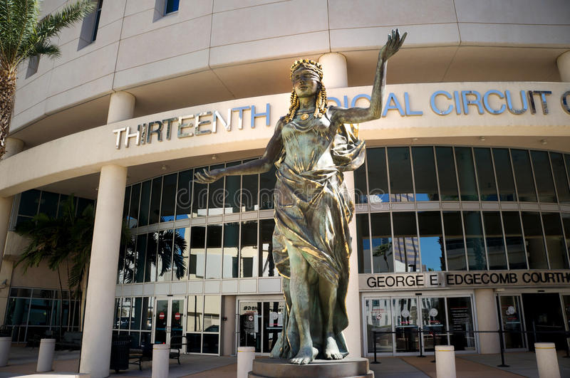 Trettonde juridisk strömkretsdomstol av Florida, i stadens centrum Tampa, Florida, Förenta staterna royaltyfri bild