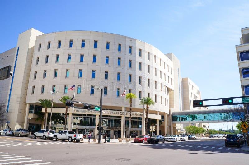 Trettonde juridisk strömkretsdomstol, Edgecomb domstolsbyggnad, i stadens centrum Tampa, Florida fotografering för bildbyråer