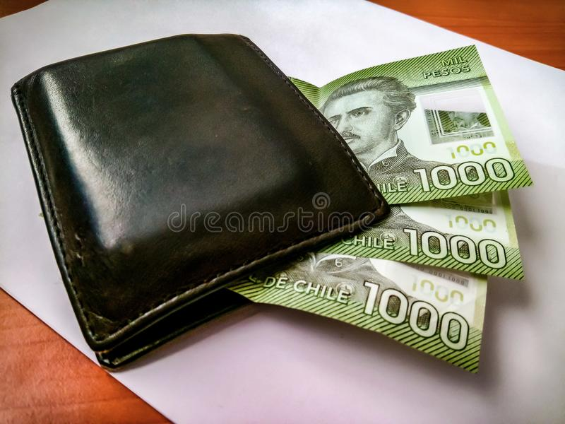 Tretusen chilenska pesos royaltyfri bild