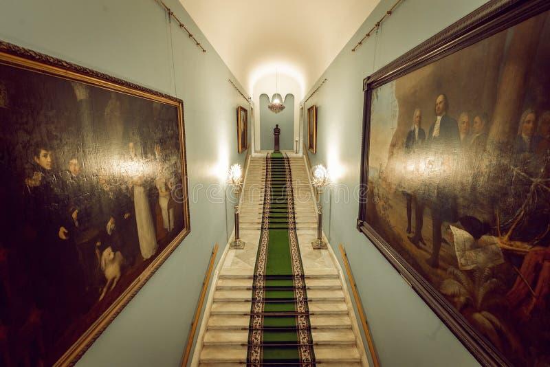 Tretyakovgalerij in Moskou Binnenlands royalty-vrije stock foto