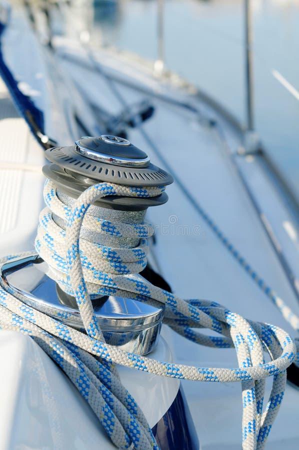 Treuil de bateau à voiles photos libres de droits
