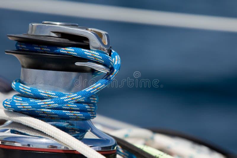 Treuil de yacht image stock