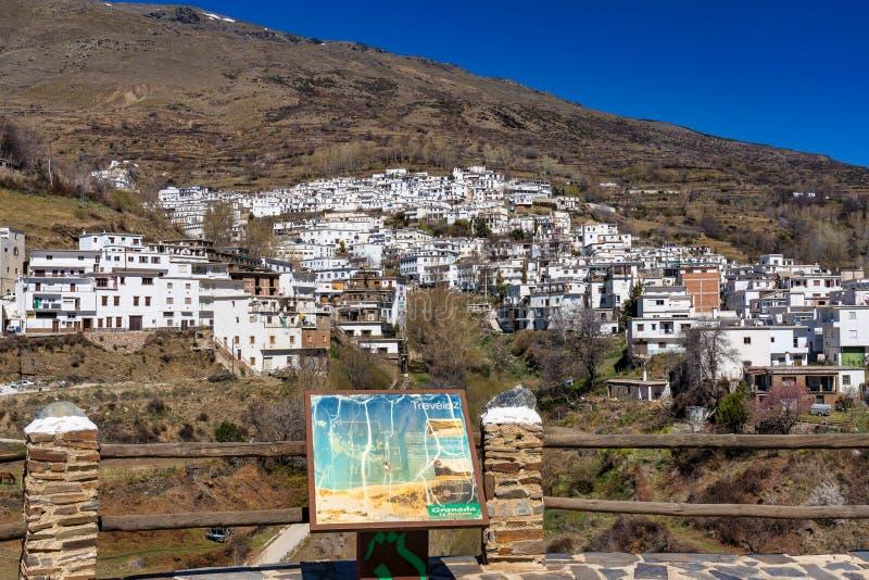Trevelez im La Alpujarra Granadina, Sierra Nevada, Spanien stockbilder