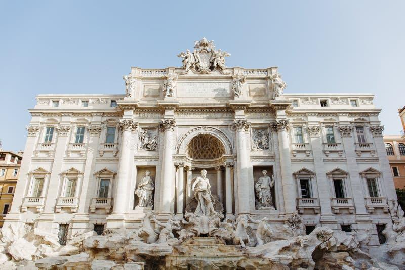 Trevi喷泉在罗马,意大利 库存图片