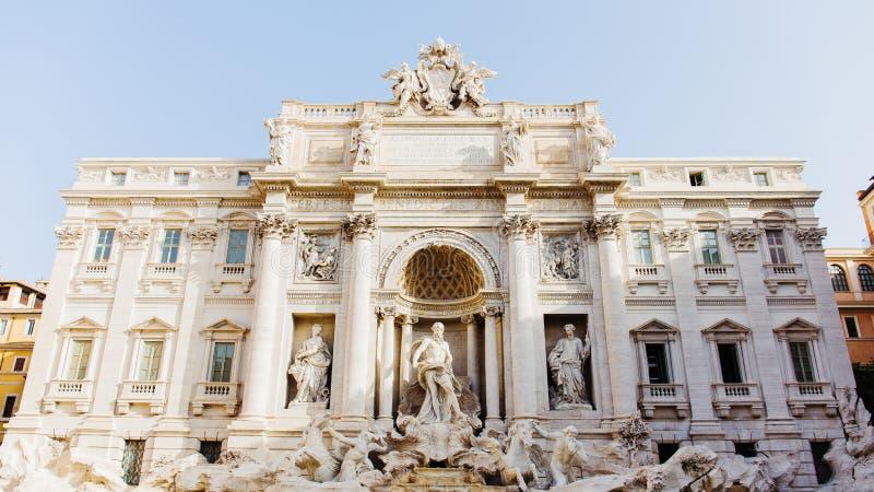 Trevi喷泉在罗马,意大利 图库摄影