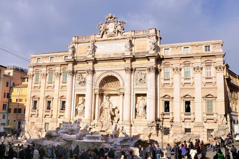 TREVI της Ρώμης πηγών στοκ φωτογραφία με δικαίωμα ελεύθερης χρήσης