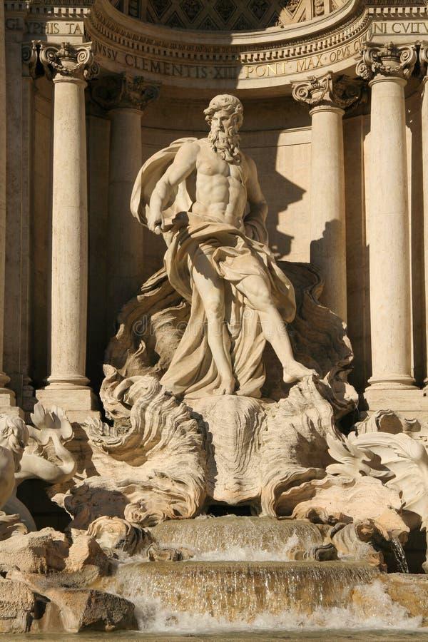 Trevi-Brunnen in Rom stockbild