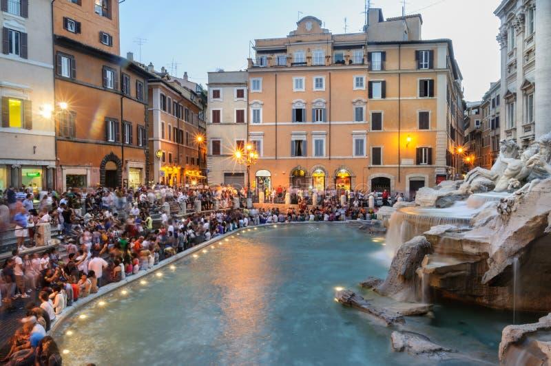 TREVI de l'Italie Rome de fontaine images stock