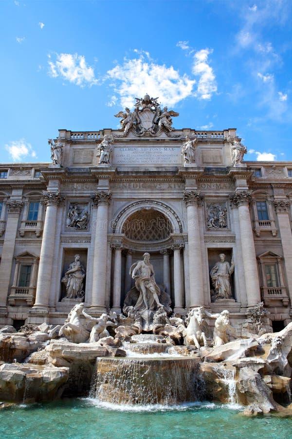 trevi fontana Италии rome di стоковое изображение