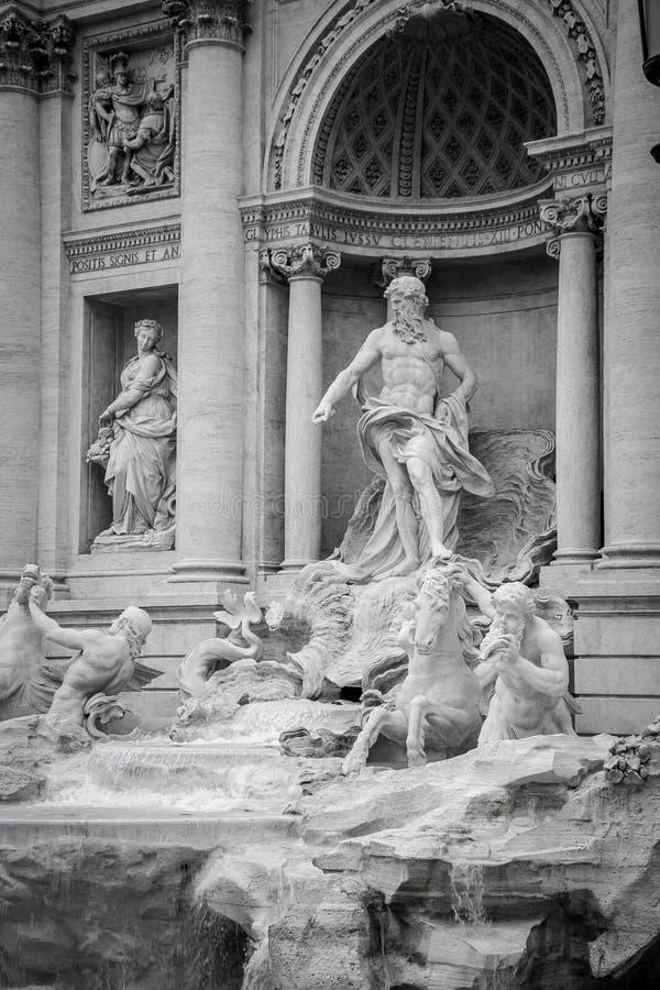 Trevi fontanna & x28; Fontana Di Trevi& X29; w Rzym Włochy fotografia stock