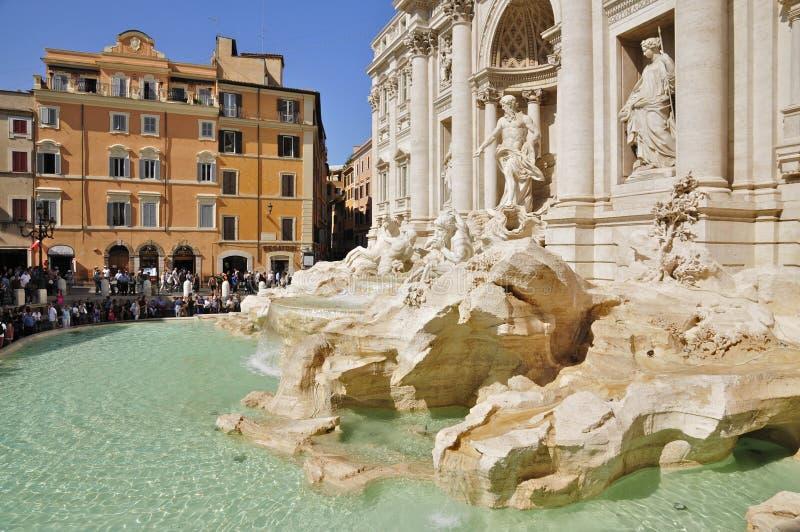 Trevi fontanna Poli i Palazzo, Rzym fotografia stock