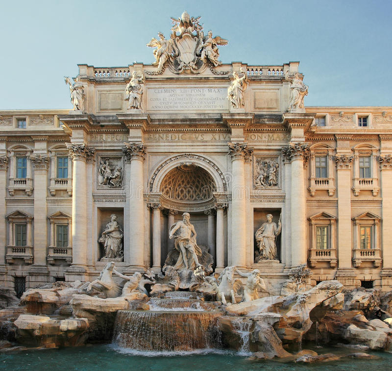 Trevi fontanna, Rzym fotografia royalty free