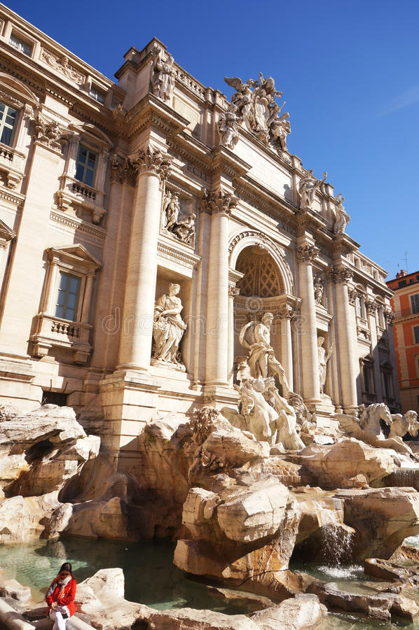 Trevi fontanna w Rzym, Włochy zdjęcie stock