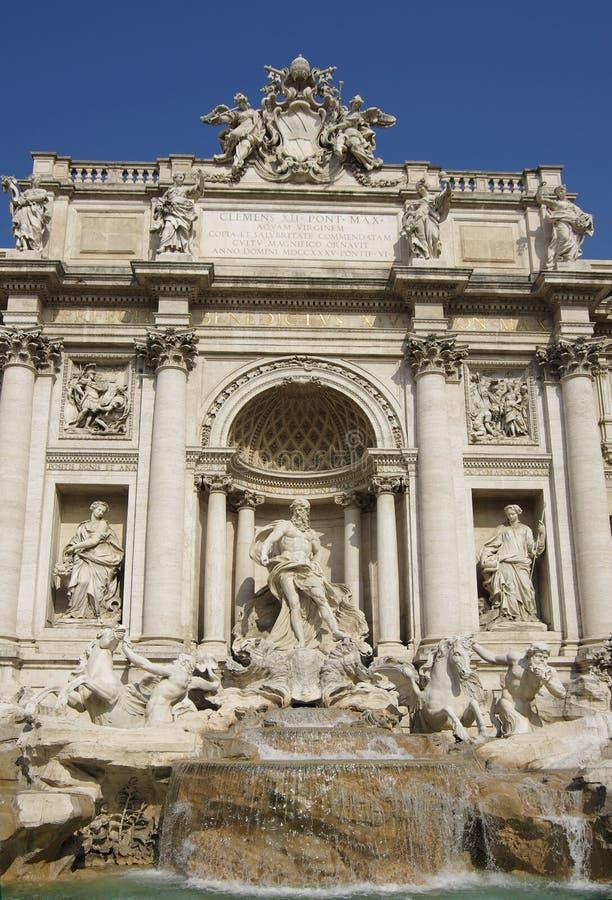 Trevi fontein royalty-vrije stock afbeelding