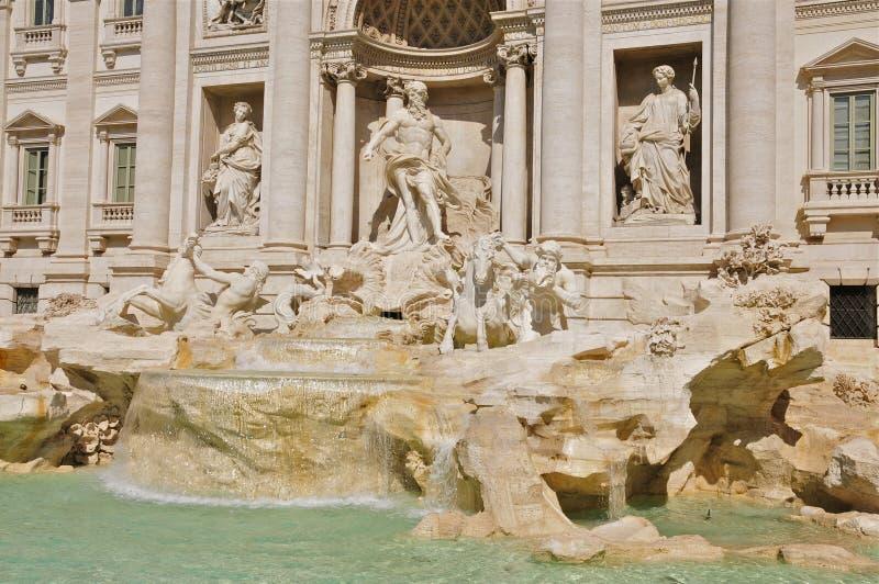 Trevi Fontein en Palazzo Poli, Rome royalty-vrije stock foto