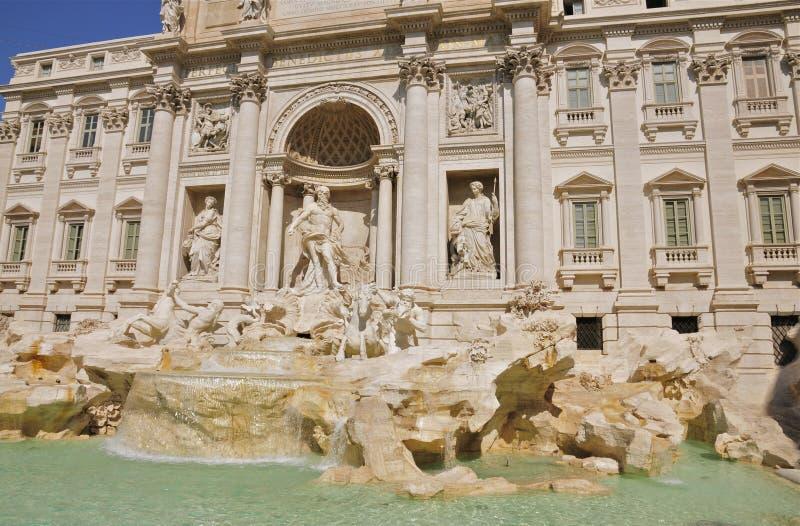 Trevi Fontein en Palazzo Poli, Rome royalty-vrije stock foto's