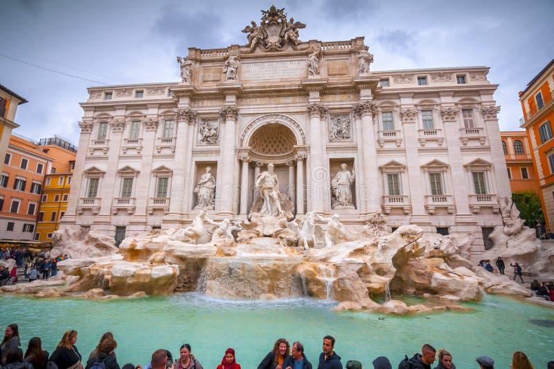 Trevi Fontein of Fontana Di Trevi bij Piazza Trevi, Rome royalty-vrije stock afbeelding