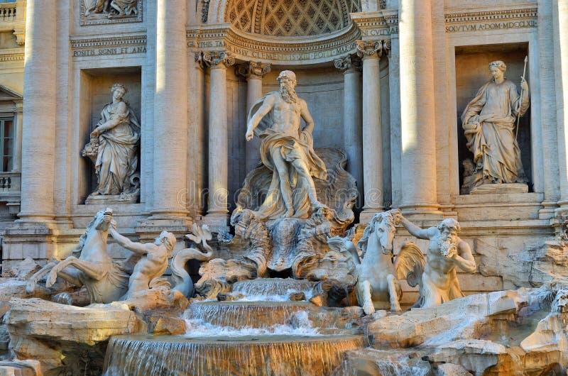 Trevi Fontein, Rome Italië stock fotografie