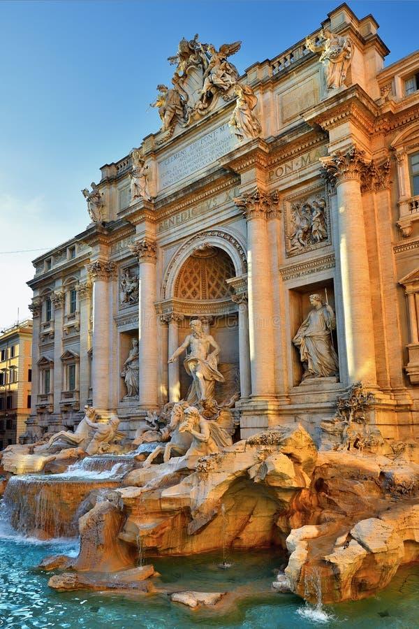 Trevi Fontein, Rome Italië stock foto's