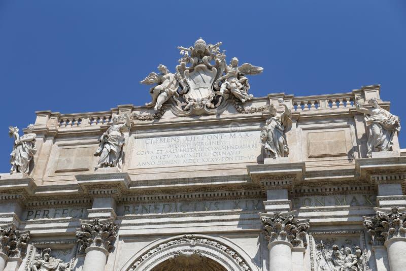 Trevi fontein in Rome, Italië stock foto