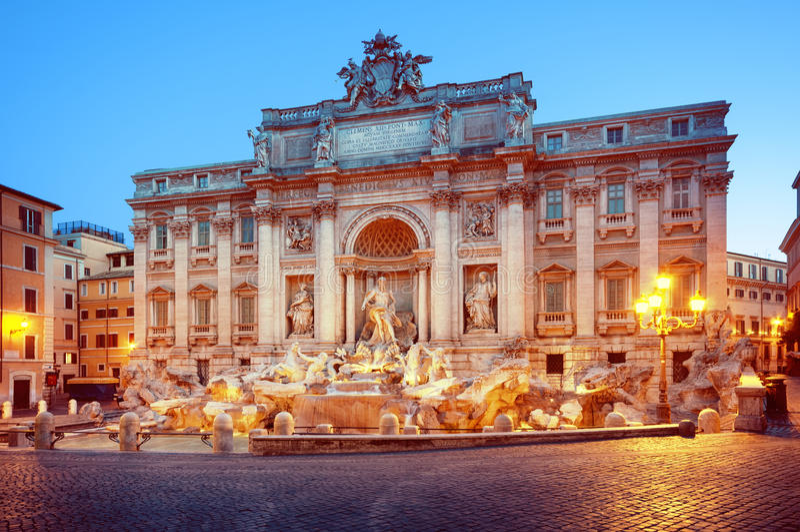 Trevi Fontein, Rome - Italië stock fotografie