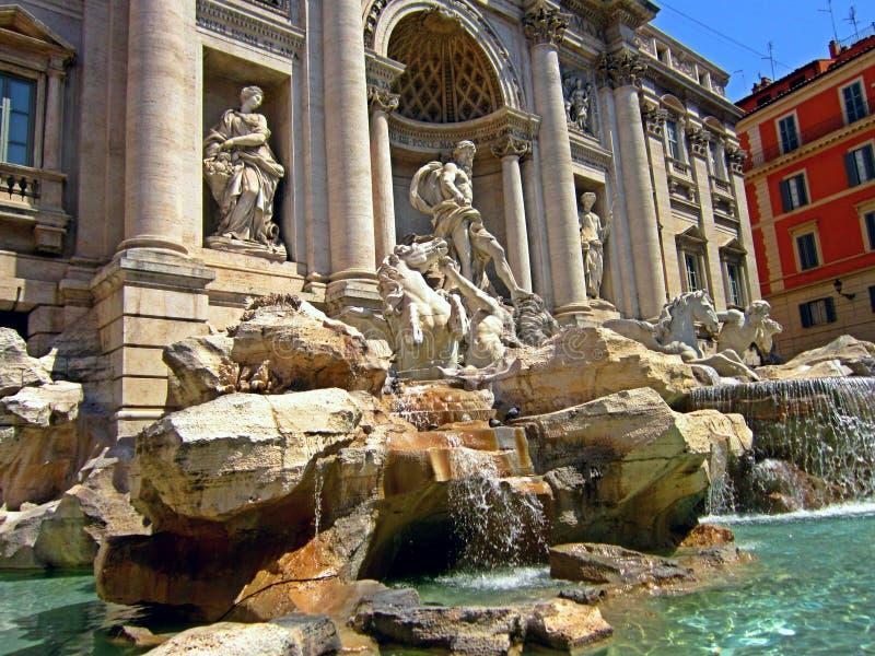 Trevi Fontein, Rome Italië stock foto