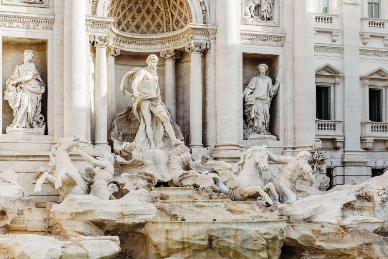 Trevi Fountain芳塔娜di Trevi在罗马,意大利 库存图片