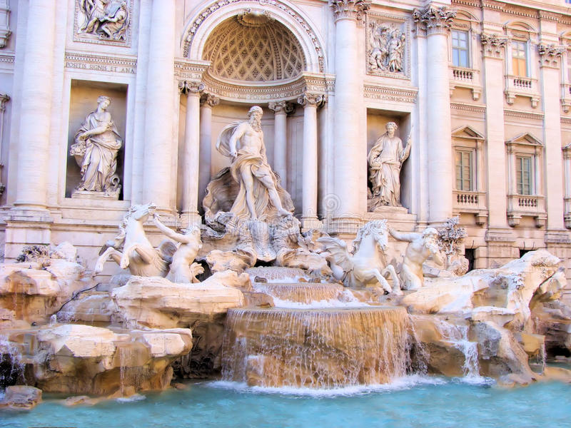 Download Trevi Fountain stock image. Image of european, dusk, italy - 18178149
