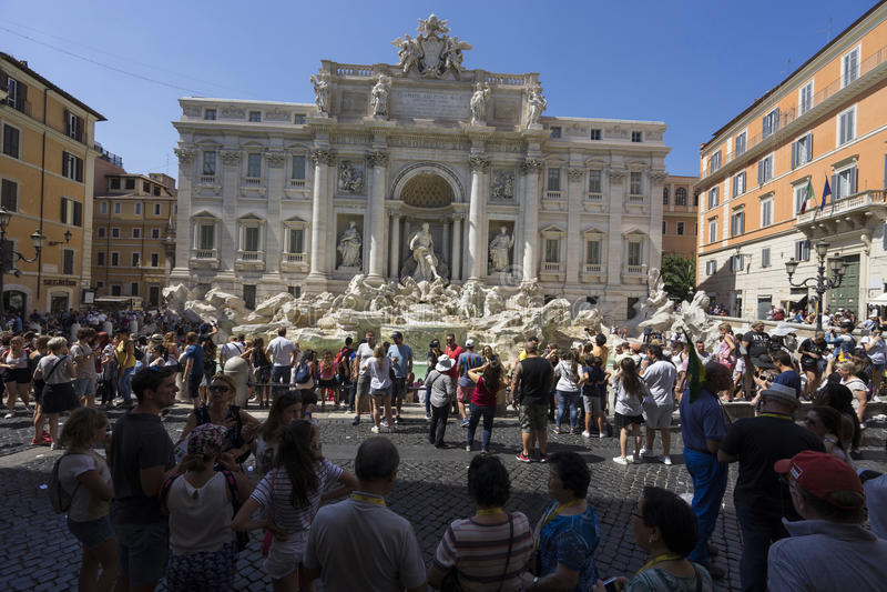 TREVI Fountain Fontana Di TREVI στη Ρώμη, Ιταλία Το TREVI είναι το περισσότερο στοκ εικόνα με δικαίωμα ελεύθερης χρήσης