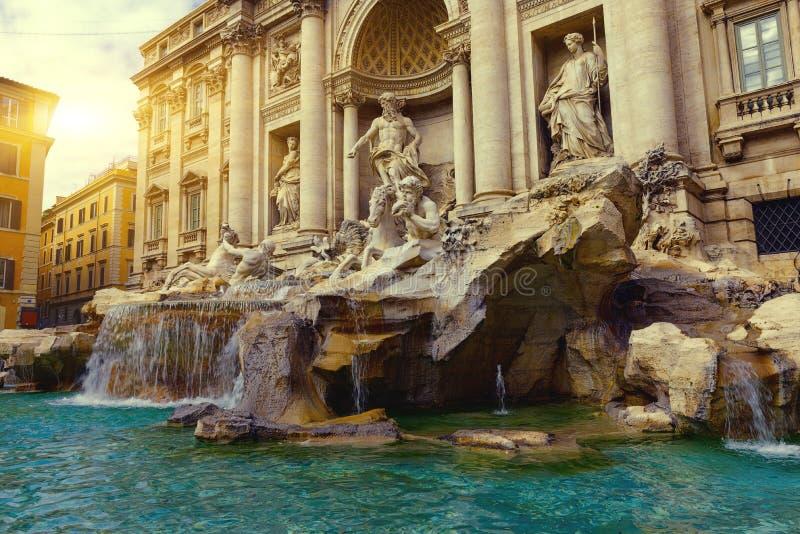 Trevi Fountain (Fontana di Trevi) in Rome. Italy stock photography