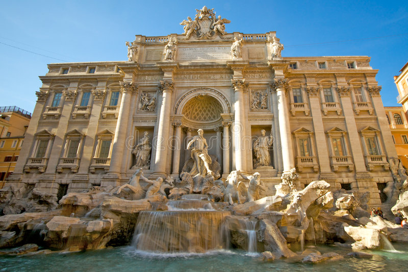Trevi fountain in Italy stock image