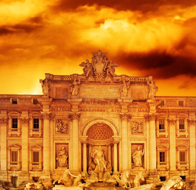 Trevi Fountain (Italy, Rome) royalty free stock photo
