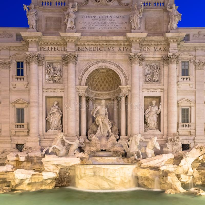 Trevi fountain at night royalty free stock image