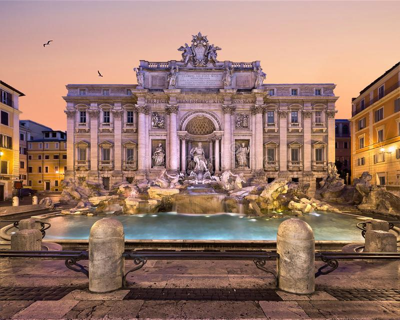 Trevi Fountain and Piazza di Trevi, Rome stock images