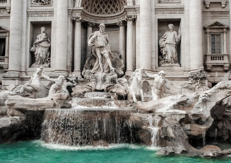 Trevi Fountain, Roma, Itália fotos de stock royalty free