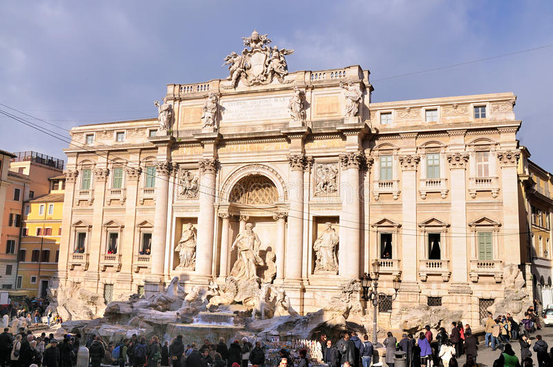 Download Trevi Fountain, Rome editorial photography. Image of statue - 17614087