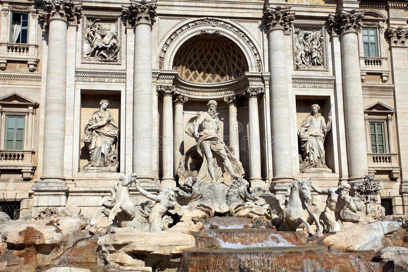 Trevi Fountain.Rome royalty free stock images
