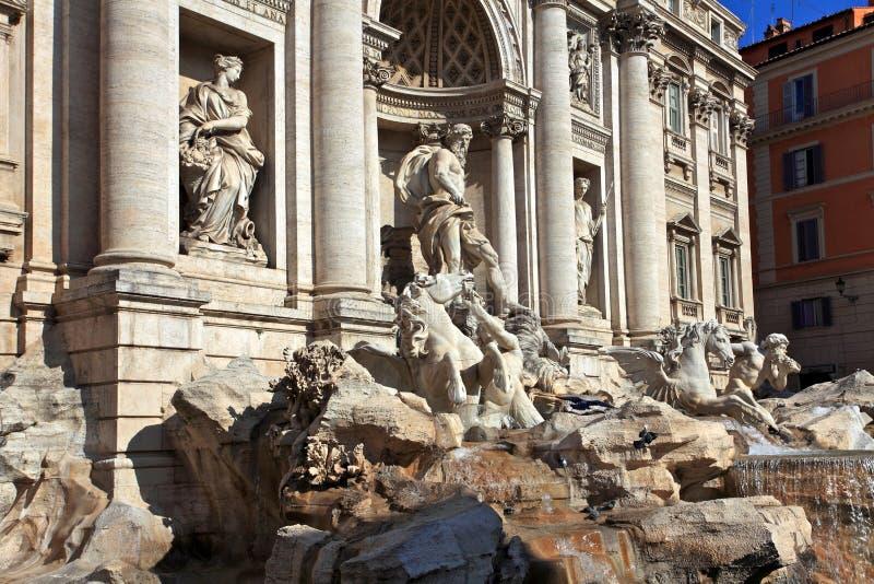Trevi Fountain.Rome stock photo