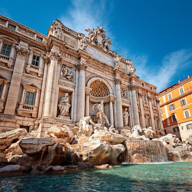 Download Trevi Fountain, Rome - Italy Royalty Free Stock Images - Image: 24893469